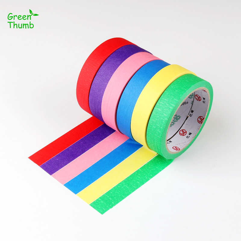 1pc Masking Tape Texture Paper Adhesive Tape for Marking Printing Painter Writeable Surface No Trace Left 6 Color Available1pc Masking Tape Texture Paper Adhesive Tape for Marking Printing Painter Writeable Surface No Trace Left 6 Color Available