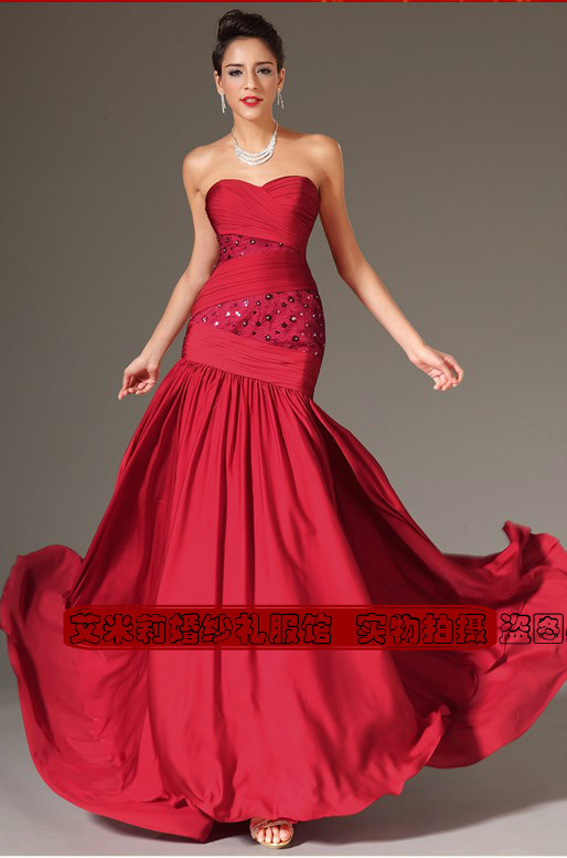 Robe De Soiree Courte Fashion Sexy Red Long Vestido De Festa Floor Length 2018 Evening Party Gown Mother Of The Bride Dresses
