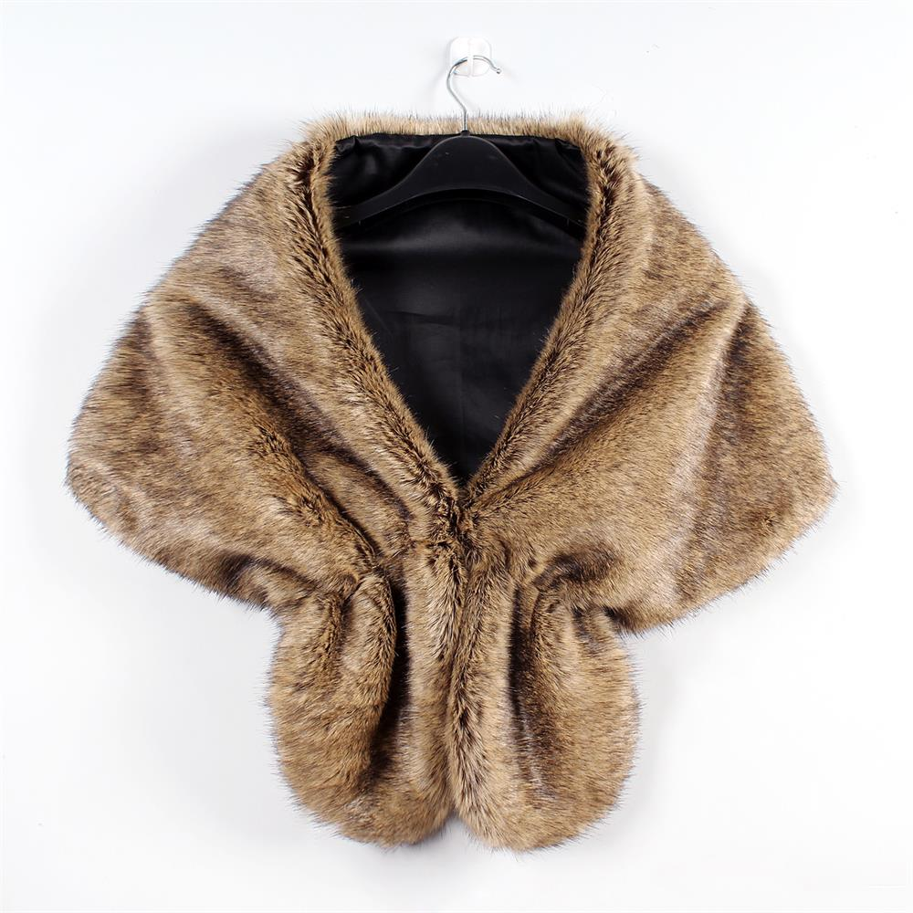 Invierno 1 Chal 4 Cálido Boda Elegante Encogimiento Abrigo Abrigos Novia Bufanda Fur 3 Largo Mujer Estola 7 5 De 1 Unid 6 Faux 2 Moda Hombros A0qHrAx6