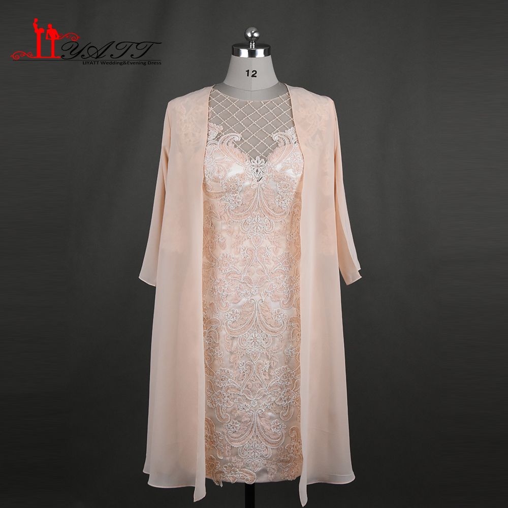 2017 New Arrival Elegant Lace Mother of the Bride Dress with font b Jacket b font