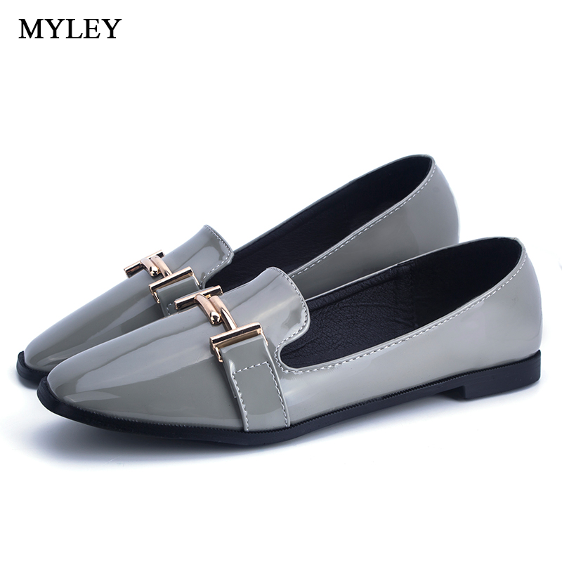 MYLEY Fashion Casual Single Shoes Women's Square Toe Slip-on Loafers Pure Color Flat Shoes Big Size Soft Zapatos Mujer akexiya spring fashion women shoes pointed toe slip on flat shoes woman comfortable single casual flats size 35 39 zapatos mujer
