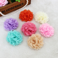 12pcs Lot Custom DIY Handmade Chiffon Flower Children Hair Hair With Wrist Flower Material Holding Flowers
