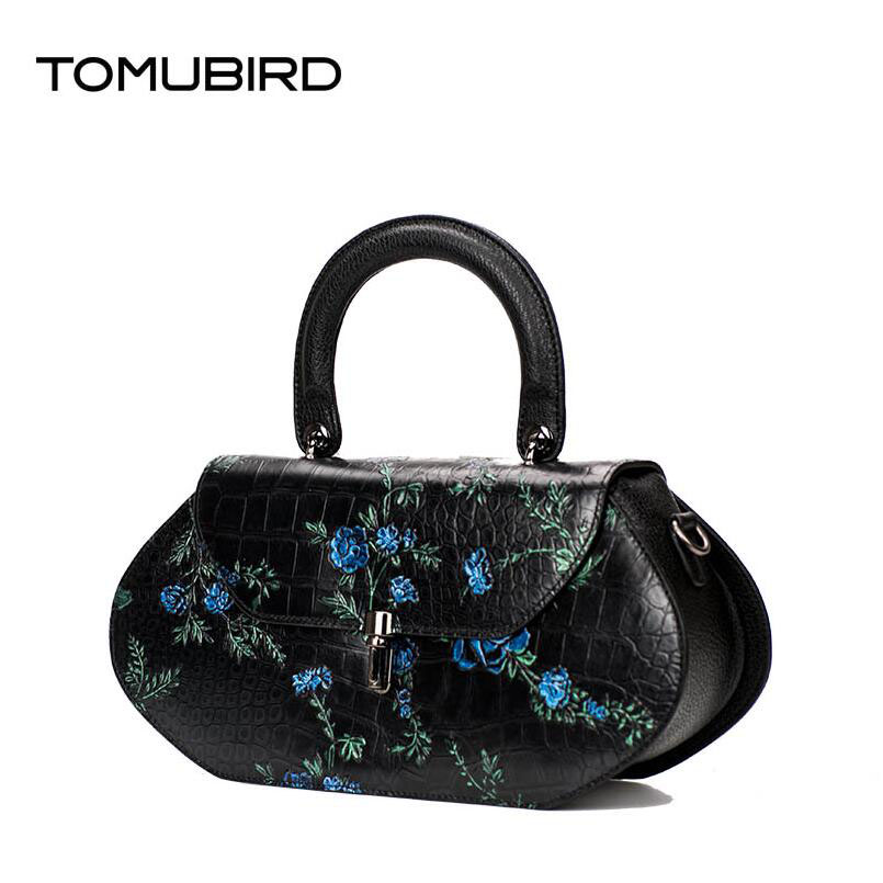 TOMUBIRD2017 new superior leather designer Painted embossed women bag  famous brand  fashion luxury genuine leather handbags