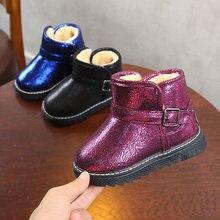 018c3d50a33ba AFDSWG hiver chaussures enfants chaud épais en peluche noir neige bottes  filles court rose rouge bottes pour garçon bleu enfants.