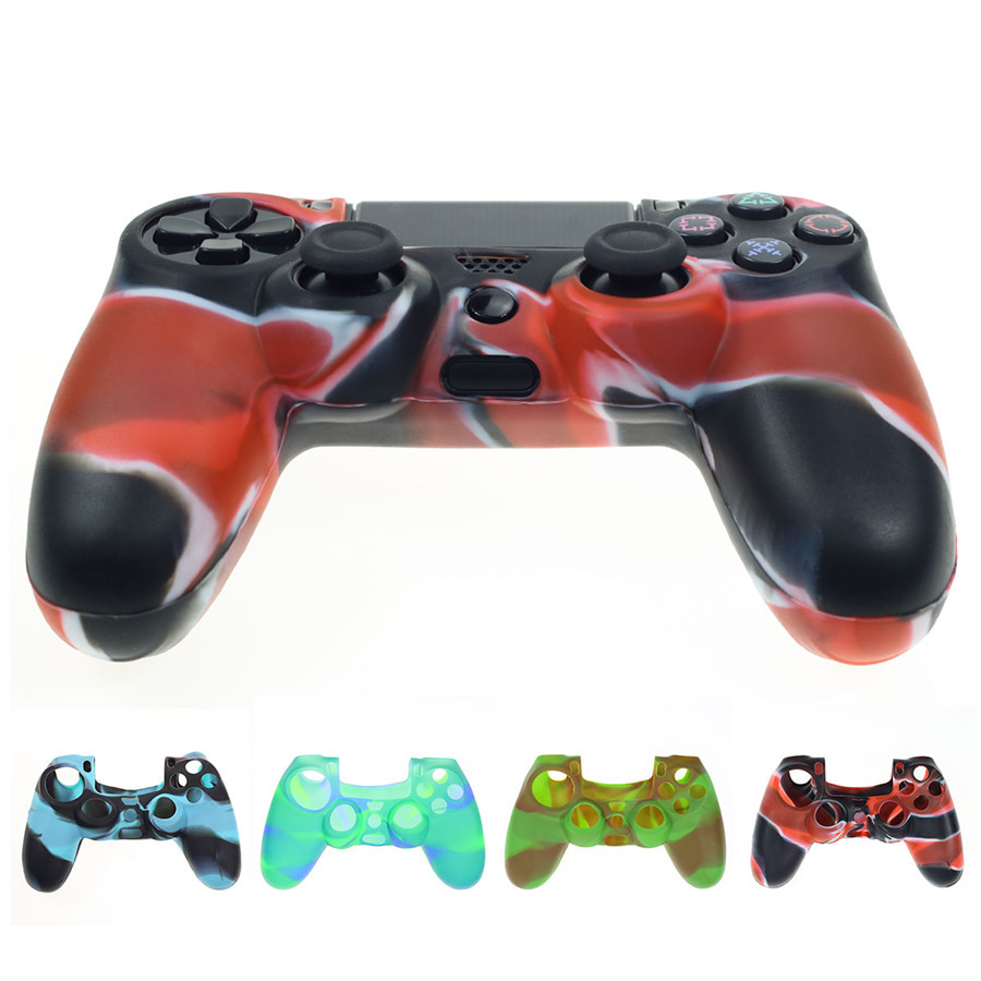 High-Quality Soft Silicone Case Cover For Playstation PS4 Controller Game Handle silicone Case