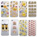Emoji smiley mono de dibujos animados suave corazón claro teléfono caso Fundas Coque para iphone 7 7 Plus 6 6 S XS. 8 X SAMSUNG S8