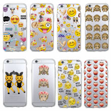 Funny Emoji smiley Monkey Cartoon Heart Soft Clear Phone Case Fundas Coque For iphone 7 7Plus 6 6S XS Max 8 8Plus X SAMSUNG S8(China)