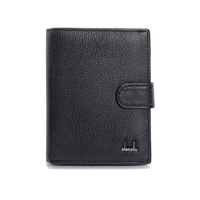 Genuine Leather Mens Passport Holder Wallets Man Cowhide Passport Cover Purse Brand Male Credit Id Car