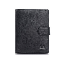 Genuine Leather Mens Passport Holder Wallets Man Cowhide Passport Cover Purse Brand Male Credit&Id Car Wallet