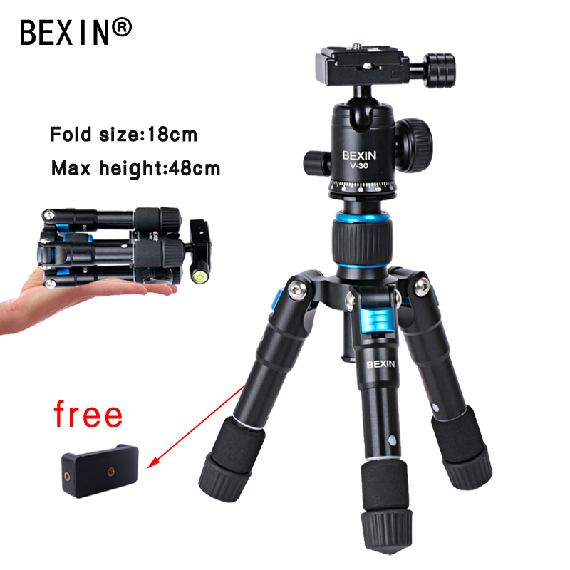 Portable Folding Ultra Aluminum Tripod Compact Desktop Macro Mini table Tripod Kit with Ball Head for Canon Nikon DSLR Camera