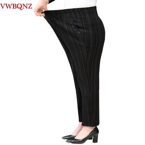 Image 3 - בגיל העמידה סבתא בתוספת קטיפה מכנסיים אופנה מזדמן רופף אלסטי מותניים נשים מכנסיים גודל גדול חם נשי חורף מכנסיים