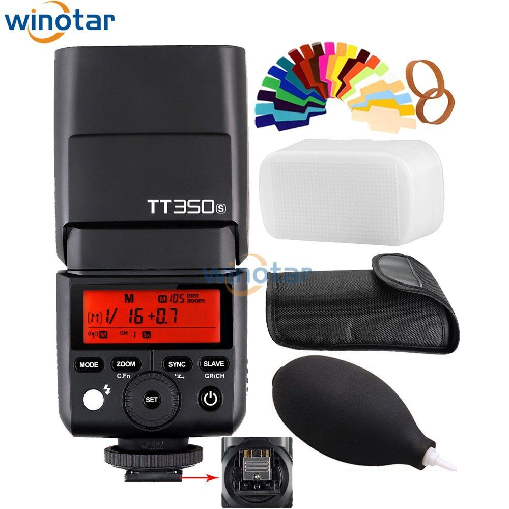 Godox Mini Speedlite TT350S Camera Flash TTL HSS GN36 for Sony Mirrorless DSLR Camera A7 A6000 A6500 A7R A7R II A55 A99 A77 II godox mini speedlite tt350s tt350n tt350c tt350o camera flash ttl hss for sony mirrorless dslr camera a7s a6000 a6500 series