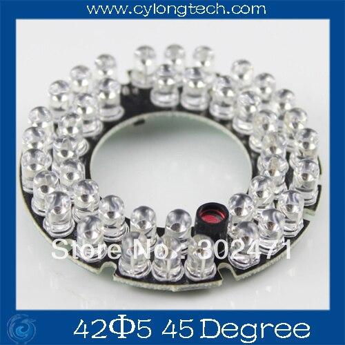 42 led 5mm infravermelho ir led board para camera 45 graus bulb cy42f5 45a