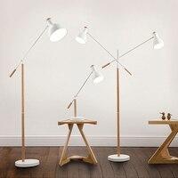 Американский минималистский гостиной лампа, железное дерево торшер