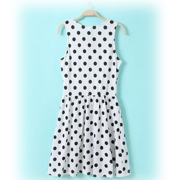 48a86d808cab 2014 new fashion women spring summer polka dot dresses girl casual Vintage  Mini Dress vestidos plus size XS XXL Free shipping-in Dresses from Women's  ...