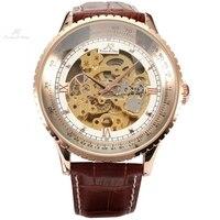 クラシックラグジュアリーksロイヤルビッグケース自動機械式スケルトンラップギフトレロジオ自己ワインディング男性レザードレス腕時計/KS113