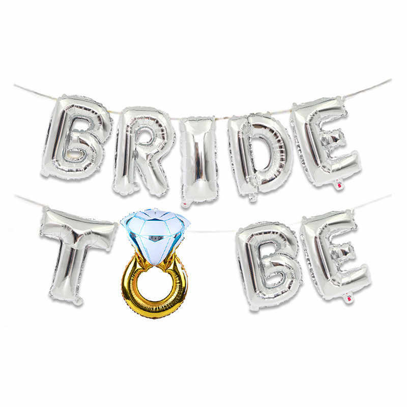 Bride Team To Be Letter Foil Balloons Mr Mrs Wedding Decoration Bridal Shower Hen Night Bachelorette Party Supplies Diy Decor