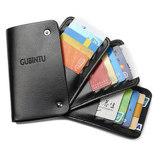 New fashion men's leather multi-function multi-card card holder wallet 2020 New ID card holder package Пакет мужской карты(China)