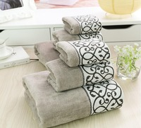 2018 New Luxury 3pcs/lot 100% Cotton Towel Set for Adults Handkerchief+Face Washcloth+Bath Towels Bathroom Set toalhas de banho