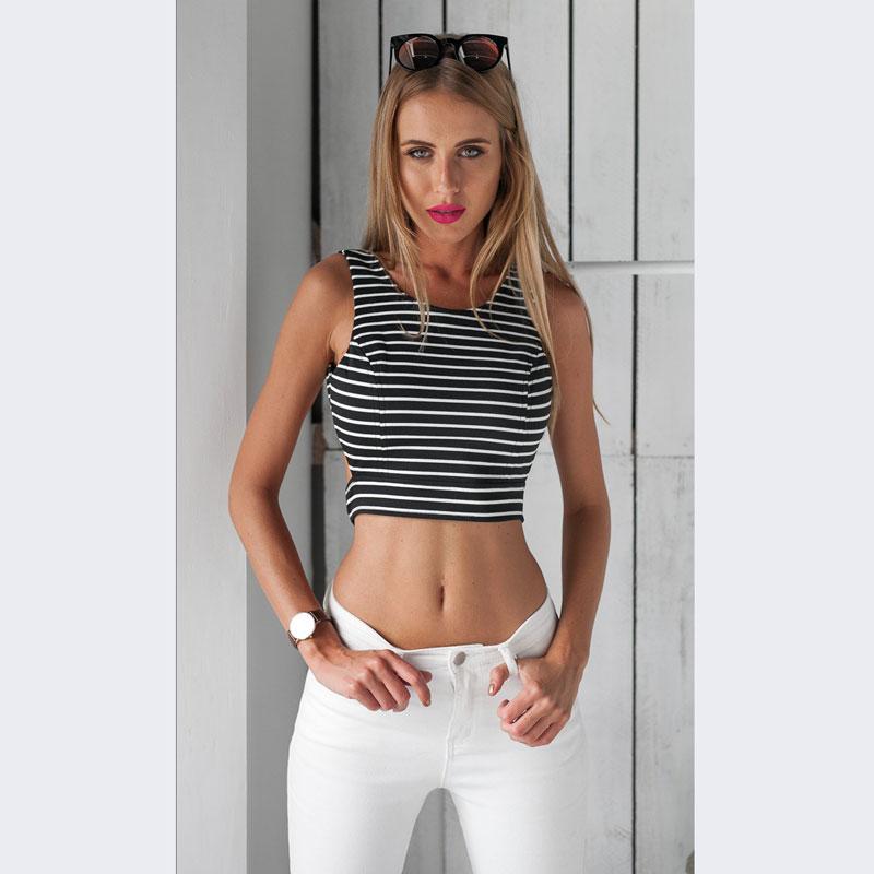 70774235368 2017 summer Sexy Women Backless Shirt O Neck Sleeveless Blouse ...