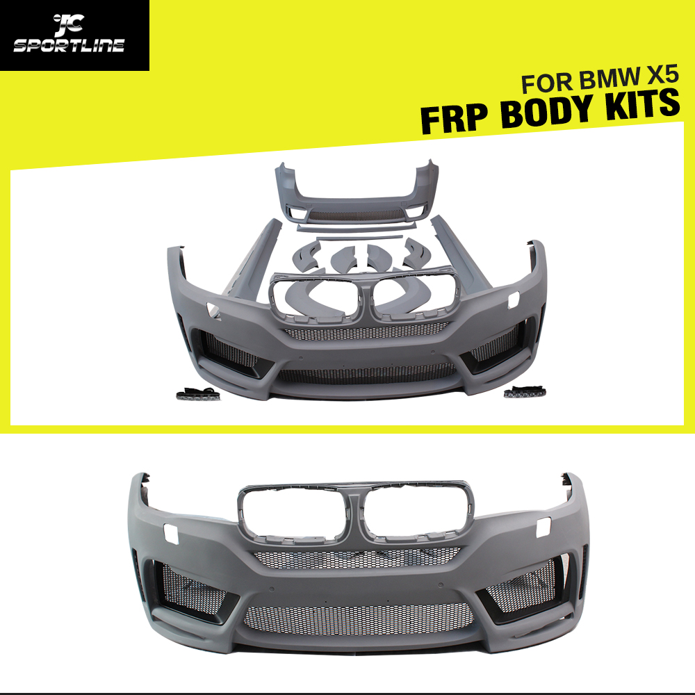 Car styling frp car body kit bumper apron for bmw f15 x5 2014 2016