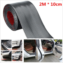 1pc 2m Car Rubber Scuff Plate Door Sill Cover Protection Moldings Anti-Collision Fender Front Rear Bumper Sticker