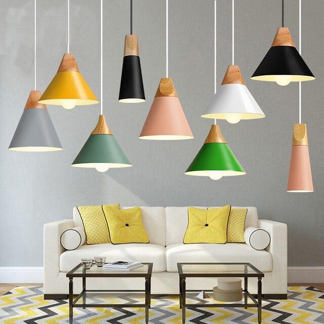 Heyberliene Pendant Lights Lustres Abajur Pendant Lamp Modern LED Bulb For Bedroom