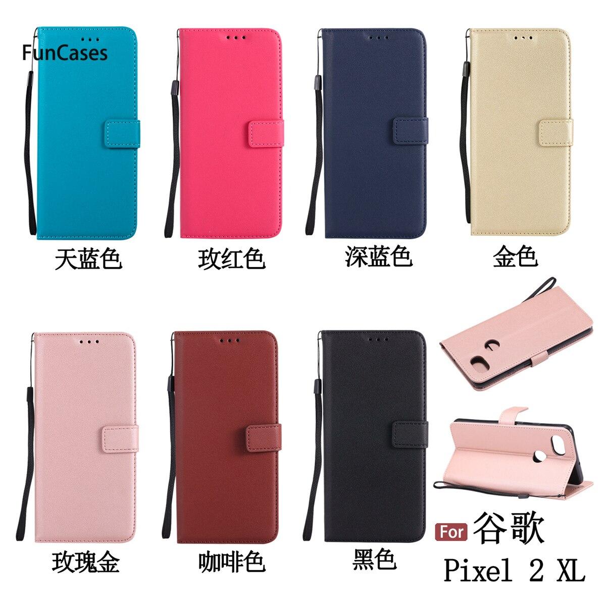 Luxurious PU Leather Case sFor Coverage Google Pixel 2 XL Bracket Case...