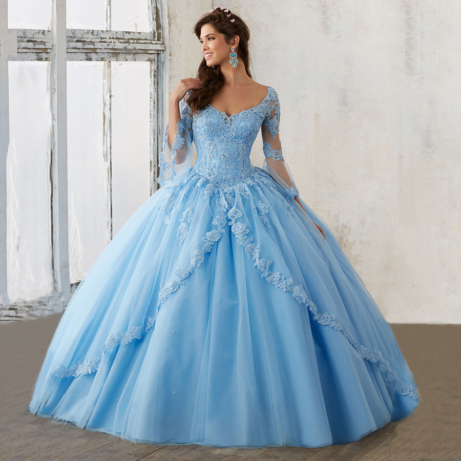 Discount Vestidos De 15 Anos Lace Party Dress Ball Gowns with 3/4 ...