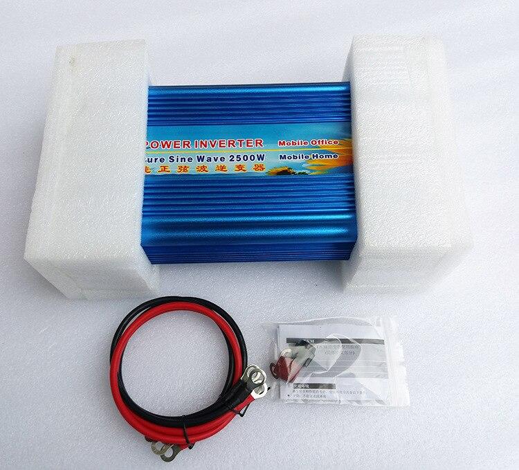 2500W pure sine wave digital display inverter 12V 24V DC to 110V 220V AC for solar