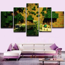 Minecraft Game 5 Pieces Print Poster Canvas Painting Wall Art Living Room HD Home Decor Modern Decorative Artwork