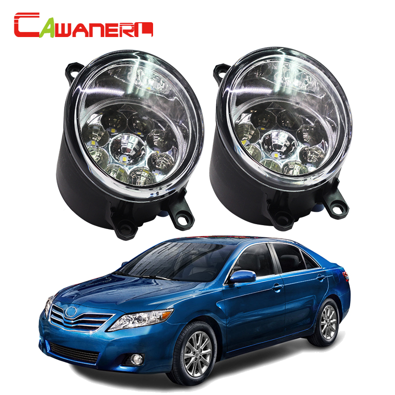 Cawanerl For Toyota Camry 2006-2012 H8 H11 Right + Left Fog Light Car LED Light Daytime Running Light DRL White Blue Orange cawanerl for toyota highlander 2008 2012 car styling left right fog light led drl daytime running lamp white 12v 2 pieces