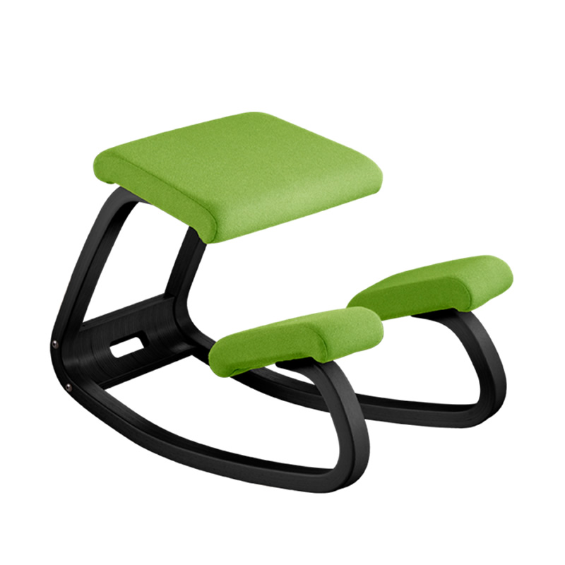 solid wood ergonomic adjustable kneeling chair in folded factory