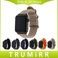 Nylon Watchband Adapters For IWatch Apple Watch 38mm 42mm Zulu Band Fabric Strap Wrist Belt Bracelet