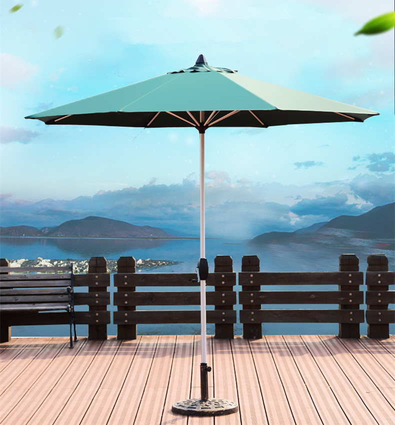 Outdoor Folding Sun Umbrella, Beach Umbrella, Ultraviolet Protection Column Patio Umbrella In 4 Colors In 2.7m стоимость
