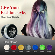 PURC Grandma Gray Hair Color Styling Promades Wax Silver Ash Grey Strong Hold Temporary Hair Dye Gel Mud Easy Wash Hair Color