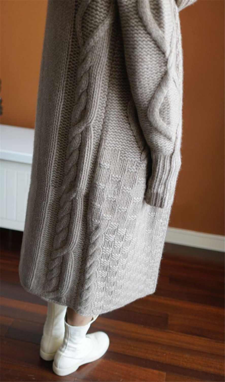 Sastre oveja otoño invierno nuevo abrigo con capucha mujeres cardigan suelto femenino largo suéter de cachemira grueso Punto de lana cardigan