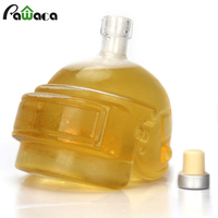 Wine Decanter Crystal Glass Carafe Unique Helmet Design Wine Decanter Bottle For Whiskey Vodka Wine Accessories