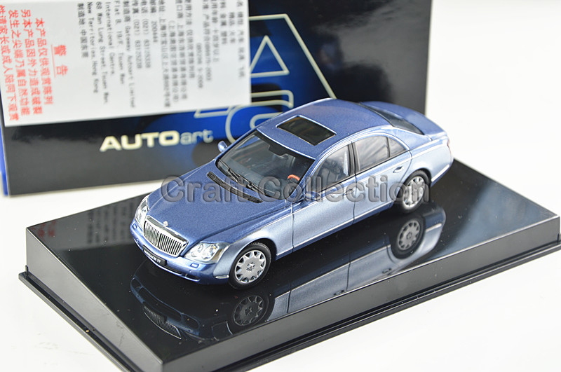 Blue 1:43 AutoArt AA Maybach 57 S SWB Alloy Automobile Mannequin Excessive-end Sizzling Promote Model Minicar Luxurious Items