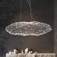 Norbic Creative Restaurant Cloud Glowworn LED Pendant Light Fixture Modern Home Deco Dinning Room Iron Fish