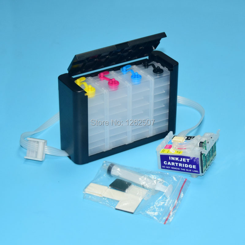 Continuous Ink Supply System /& Ink Set for Epson Workforce WF-2520 WF-2530 CISS