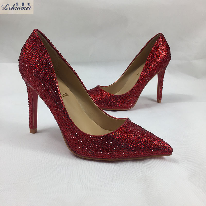 New Arrival Woman High Heels fashion lady party Wedding Bride Shoes Pumps classic lady pumps sexy thin heels bling 4 colors shoe lucyever fashion buckle crystals bling pumps women elegant thin high heels point toe party wedding shoes woman glod sliver black