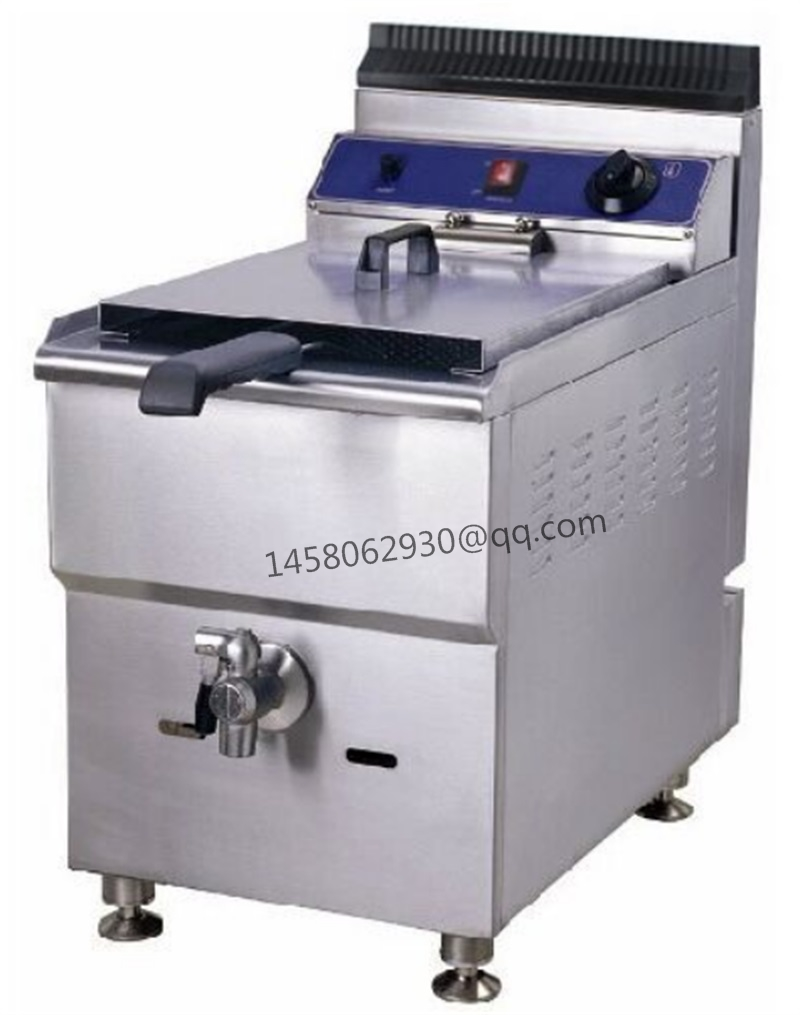 Gas Fryer With Temperature Control Stainless Steel Single tank LPG gas deep fryer with Safety Device цена