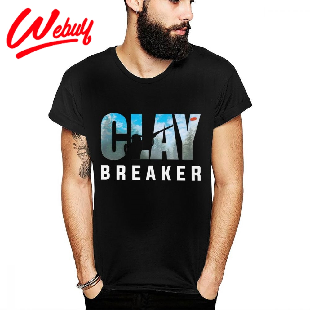 Clay Breaker Clay Pigeon Shooting Skeet Trap Target Tee Shirt Men S-6XL Plus Size Summer Fashion T Shirt Comfortable Cotton