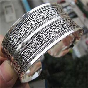Antique Silver Plated Carve...