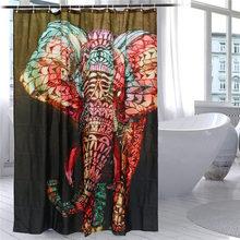 Современный Слон Печати Душ Занавес Водонепроницаемый Mildewproof Полиэстер Ткань Занавеса Ванны Ванная Комната Продукта С 12 Крючки Подарок