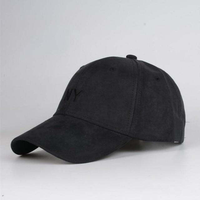 2016 carta NY Gorras Snapback de gamuza de piel de gorra de béisbol para  Casquette hueso d8cd589ef7a