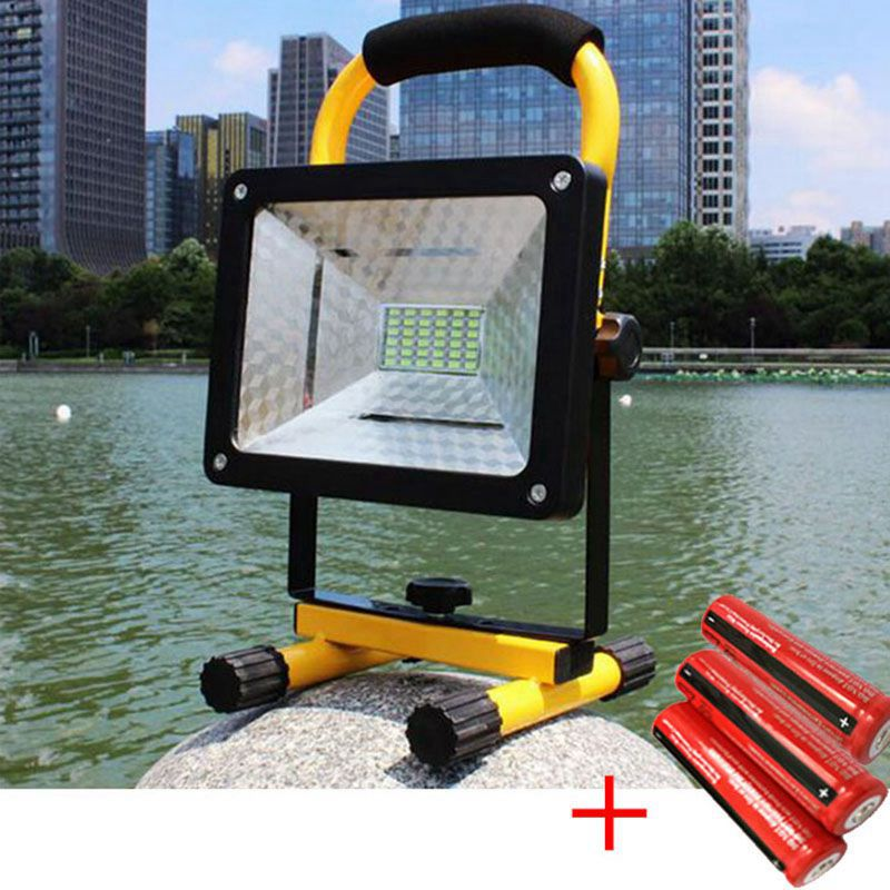 ФОТО 36 LEDs Waterproof Powerful Diving Floodlight 3 Modes 18650 Battery Outdoor Working Light Comping Spotlight Work Lamp