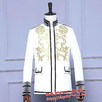 Stage певец хост полный платье костюмы Китай стиль куртка ретро blazer пальто производительности шоу party bar ночной клуб выпускного вечера студии