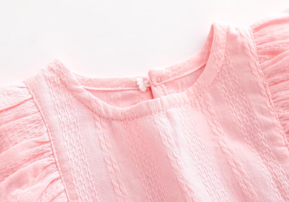 Ruffles BowKnot Zomer Katoen Mini Meisjes Feestjurk Verjaardag - Babykleding - Foto 3